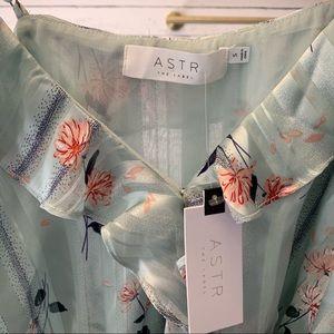 Astr Tops - ASTR The Label April Cold Shoulder Wrap Front Top